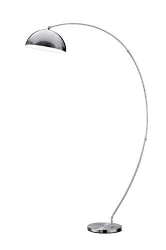 Trio Leuchten LED-Bogenleuchte Florestan, nickel matt 429910107