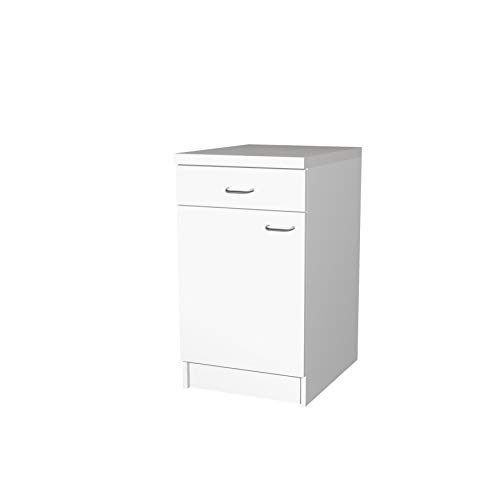 Flex-Well Küchenschrank BOCHUM | Unterschrank | 1-türig, 1 Schublade | Breite 50 cm | Weiß