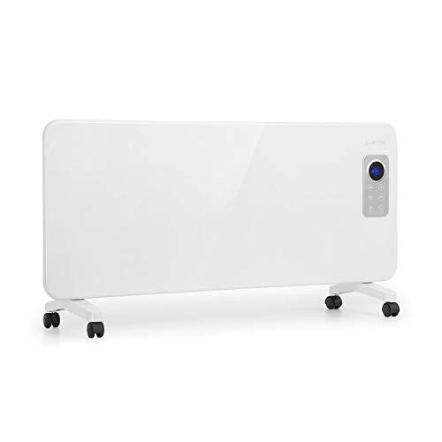 Klarstein Hot Spot CV20 Konvektorheizung • mobiles Heizgerät • Elektro-Heizung • 1000 oder 2000 Watt • Thermostat • LCD-Display • Touch-Bedienung • IP24 • inkl. Fernbedienung und Bodenrollen • weiß