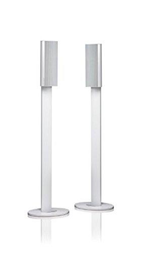 Harman/Kardon HTFS 3WQ Aluminium Säulen-Standfuß mit Kabelkanal (Paar) Höhe 820mm Kompatibel mit HKTS 20/30/60/200/30SAT und BDS 400/800 Satellitenlautsprechern - Weiß
