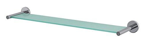 Spirella Wand-Glasablage'NYO' Badezimmerablage Ablage Wandablage für das Badezimmer aus Glas und Edelstahl 60cm - zum kleben und bohren