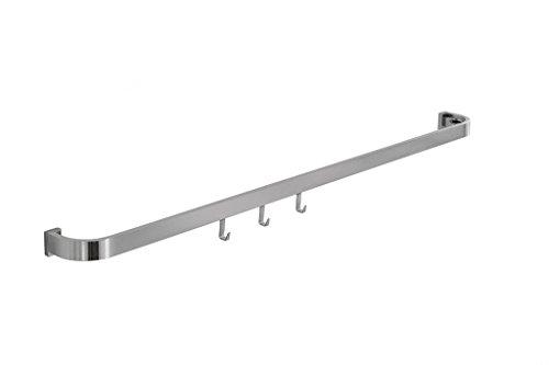 Alto Onda Set, Relingsystem, L 900 mm, edelstahlfarbig. Aluminium, Oberfläche edelstahlfarbig gebürstet, inkl. 3 Haken.