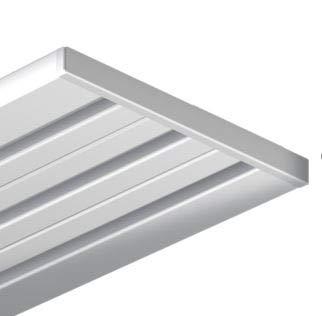 Gardineum Gardinenschiene Vorhangschiene, Aluminium, Silber, alu-Silber eloxierte Oberfläche 3-läufig (Wendeschiene) vorgebohrt - 1,80 m