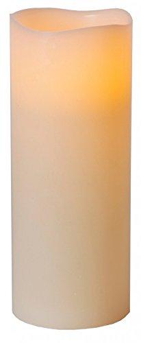 Star LED-Leuchtkerze mit Echtwachs, flackernd, Timer, batterie betrieben, Sichtkarton 25 x 10 cm, warmweiß 068-67