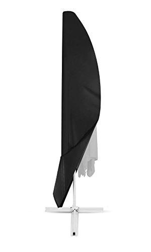 Dokon Schutzhülle für Ampelschirm Wasserdichtes Atmungsaktives Oxford-Gewebe Sonnenschirmhülle - Schwarz
