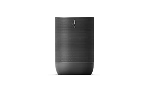 Sonos Move Smart Bluetooth Speaker (Wasserfester WLAN, mit Alexa Speaker, Google Assistant und AirPlay 2 - Kabellose Outdoor Musikbox mit Akku für Musikstreaming zuhause und unterwegs) schwarz