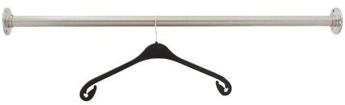 Pauli Edelstahldesign - Edelstahl Garderobenstange Kleiderstange 33,7 mm aus V2A - Länge: 125 cm