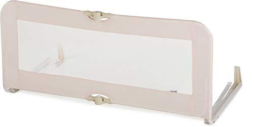 Hauck Sleep N Safe Plus Bettschutzgitter für Babys, Kinder, Erwachsene und Senioren, klappbar, 108 cm lang x 44 cm hoch, hellgrau beige
