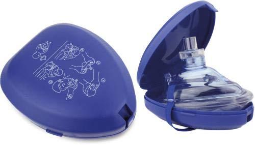 CPR Maske Notfallmaske Beatmungsmaske blau