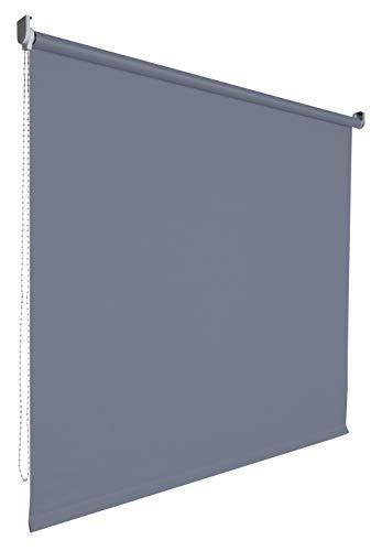 Kettenzugrollo Seitenzugrollo Tür Fenster Rollo Vorhang 14 Farben Breite 62 bis 202 cm Länge 180 cm lichtdurchlässig halbtransparent Metall Träger Wandmontage Deckenmontage (102 x 180 cm / Grau)