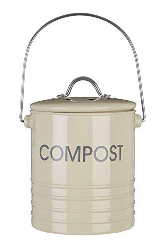 Premier Housewares Komposteimer mit Griff, Rot
