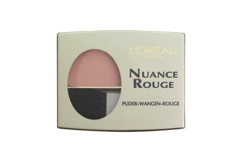 L'Oréal Paris Nuance Rouge, 101 Rosenholz / Wangenrouge für natürlich-mattes Make-Up-Finish, für jeden Hauttyp / 1 x 6g