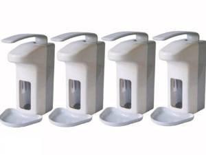 BASIC PLUS 4 Wandspender für 500 ml Flaschen Seifenspender Spender Desinfektionsspender (4 Stück)