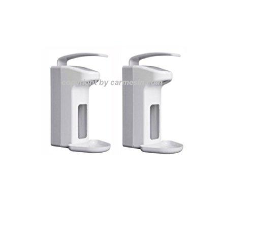 2 Wandspender für 500 ml Flaschen Seifenspender Spender Desinfektionsspender (2 Stück)