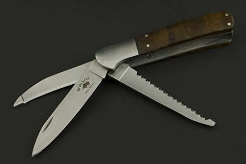 ED MAHONY, 3 Klingen Multitool Für Jäger, Professionelles Taschenmesser, 440C