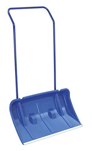 Schneeschieber mit Rädern/Rollen Schneewanne 80 cm Breit inkl. Streusalzschaufel und Ersatzräder Blau Alukante