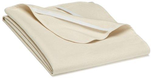 biberna 808301 Molton Matratzenauflage Premium Qualität, nach Öko-Tex Standard 100, ca. 120 x 200 cm, natur