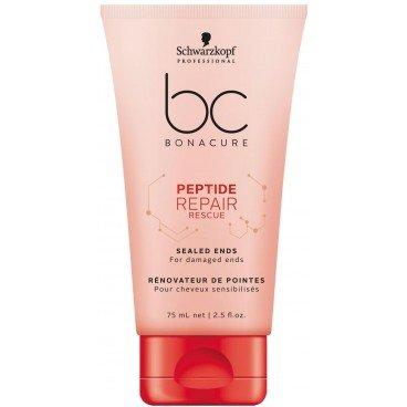 Schwarzkopf BC Bonacure Peptide Repair Rescue Sealed Ends 75 ml Creme-Serum für die Haarspitzen