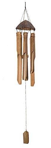 Klang- und Windspiel, Bambus und Kokosnuss, 30 cm