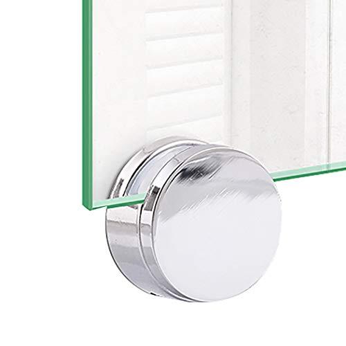 Justdolife 4 Sätze Spiegelclip Mehrzweckrunde Wandhalterung aus Glasclip Spiegelhalterung