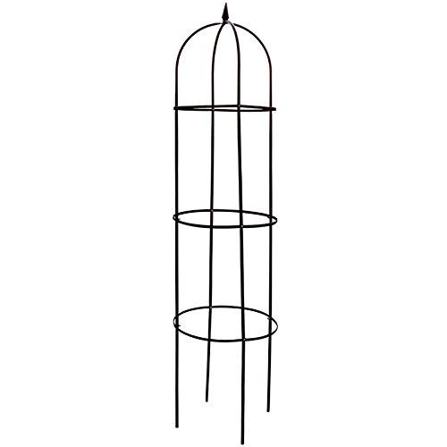 Rankhilfe aus Stahl grün lackiert, 200 x 40 cm • Garten Oberlisk Ranksäule Rankgitter Spaliere Rosensäule Pergola