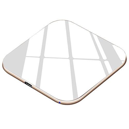 Te-Rich Handy Schnellladegerät Kabellos 15W, USB C, Fast Wireless Qi Ladestation 7,5W für iPhone X 8 8 Plus, Induktive Schnellaufladen Drahtlos 10W für Samsung S9 S9 Plus S8 S7 S6 Edge und Note 8, 5