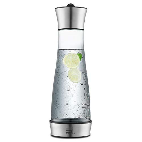 SILBERTHAL Glaskaraffe 1 Liter mit Kühlelement I Karaffe für Wasser, Tee, Kaffee und Cold Brew I Spülmaschinenfest