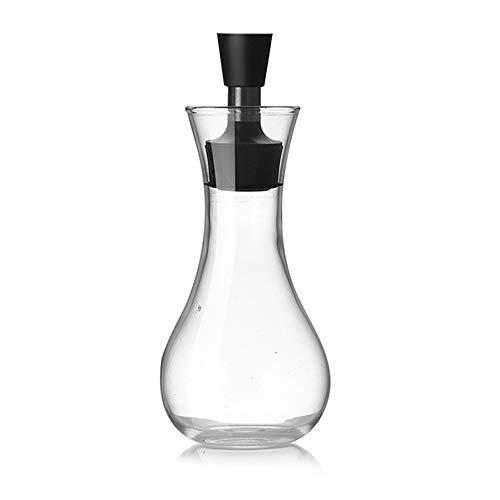 Olivenöl-Spender.Glasflaschen und Ausgießer Set für Küche, Öl & Essig Menage/Dekanter, mit tropffreies Deckelausgießer, flüssiger Gewürzbehälter, Glasdekanter für Küche, breiter Kaliber