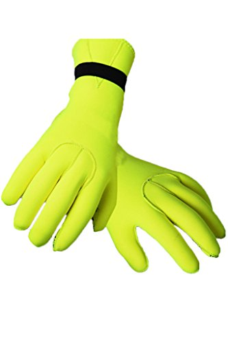 Neoprenhandschuhe Wasserdicht Taucherhandschuhe 2.5MM Neoprene Diving Gloves XL Yellow