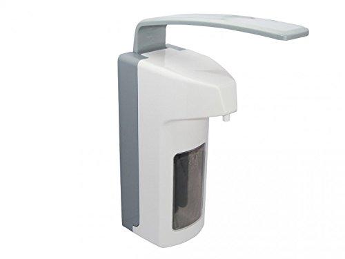 Desinfektionsmittelspender für die Wand mit einem Fassungsvermögen von 500 ml | Wandspender für Seife und Desinfektionsmittel zur Anbringung in Krankenhaustoiletten oder OP-Sälen, 1 Stück