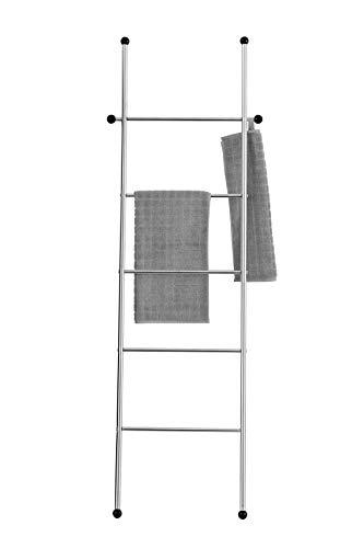 Wenko 23176100 Handtuchleiter Vita - Handtuchhalter, Kleiderständer, Edelstahl rostfrei, 52 x 158 x 3 cm