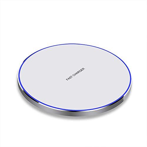 Qi Ladestation, Wireless Charger 10W Induktionsladegerät Kompatibel mit Samsung Galaxy S10/S10+/S9/S9+/S8/S8+/S7/S7 Edge/S6/S6 Edge, 7,5W QI kabelloses Ladegerät für iPhone 8/8 Plus/X/XR/XS/XS MAX