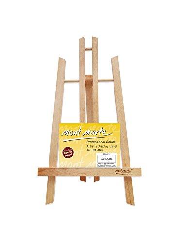 Mont Marte Kleine Tischstaffelei aus Buchenholz - Medium - Kompakte Staffelei - Ideale Holzstaffelei zum präsentieren von Leinwänden und Keilrahmen bis 40 cm - Perfekt für Veranstaltungen und Events