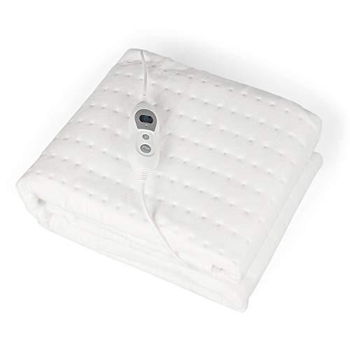 VIDABELLE VD-4626 Wärmeunterbett in weiß, 90 x 200 cm, Premium Plus, elektrische Heizdecke mit 6 Temperaturstufen, Wärmedecke mit Abschaltautomatik