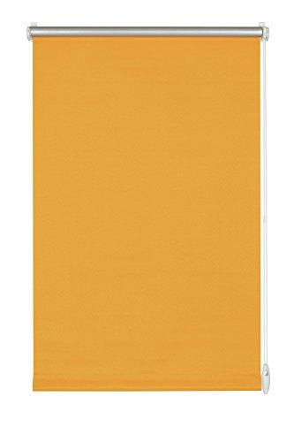 GARDINIA Thermo-Rollo mit Thermo-Rückseite zum Klemmen oder Kleben, Höchste Lichtreflektion, Energiesparend, Lichtundurchlässig, Alle Montage-Teile inklusive, EASYFIX Rollo Thermo, Orange, 100 x 150 cm (BxH)
