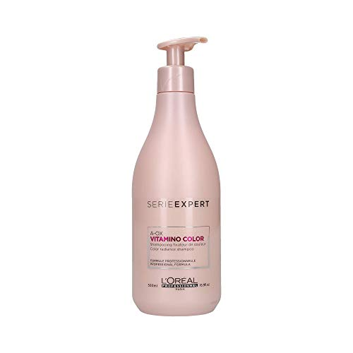 L'Oréal Professionnel Serie Expert Vitamino Color A.OX Shampoo, Farbfixierendes Shampoo für coloriertes Haar, 1er Pack (1 x 500 ml)