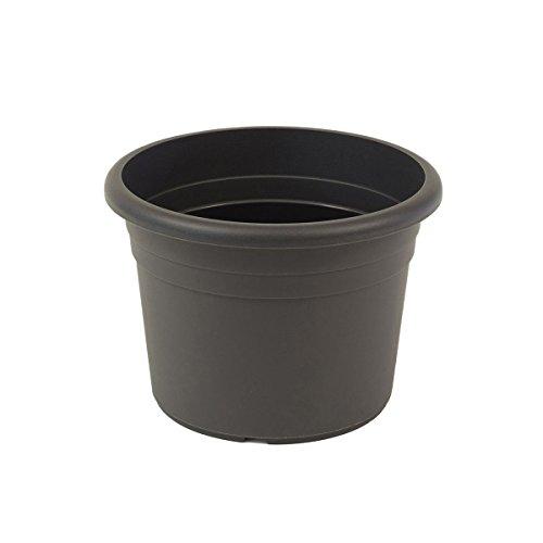 greemotion Pflanzkübel Fiona in Anthrazit-Grau, Blumentopf 70cm, 96L Blumenkübel rund, Übertopf UV-beständiger Kunststoff, frostsicherer Pflanztopf, Pflanzgefäß mit Bodenlöchern, Pflanzen-Zubehör