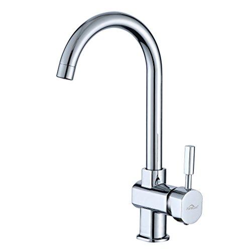 Auralum Waschtischarmatur Einhandmischer Wasserhahn Spültisch Waschbecken Armatur inkl. 2x Flexible Schläuche