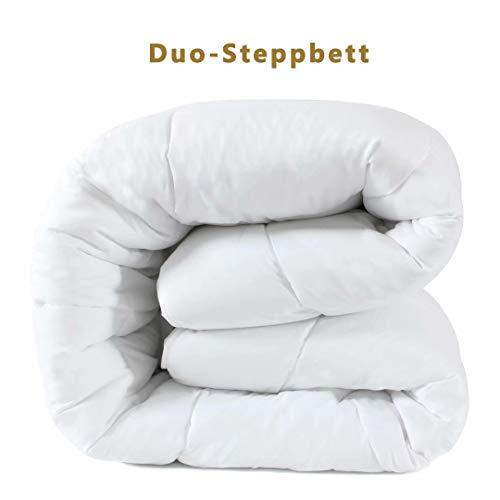 D & G The DUCK & GOOSE CO Hochwertige Duo-Steppbett Warme Winterdecke Bettdecke Steppdecke Microfaser 200x200CM