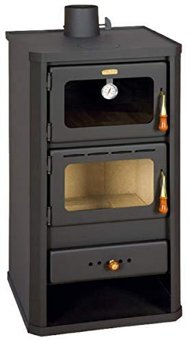Kaminofen 12 kW mit Ofen Festbrennstoff Kamin Holzbrenner Prity FM