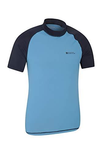 Mountain Warehouse UV-Badeshirt für Herren - Schwimmshirt mit UPF50+, schnelltrocknend, Flache Nähte UV Shirt - Ideal für Schwimmen und Tragen unter einem Schwimmanzug Dunkelblau Large
