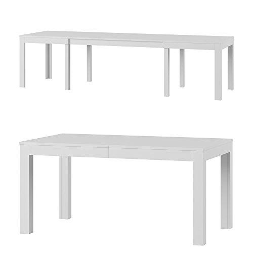 Tisch Küchentisch Esszimmertisch Esstisch ausziehbar bis 300 cm !!! (weiß matt)