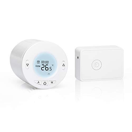 Meross Smart WLAN Heizkörperthermostat mit LCD-Anzeige Intelligenter Programmierbar Heizungsthermostat für Einzelne Räume, Kompatibel mit Alexa, Google Assistant und IFTTT, mit Hub MTS100H