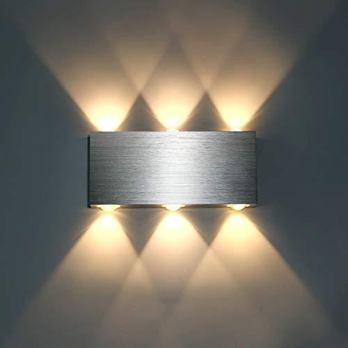 Lightess 18W LED Wandleuchte Innen Modern Up Down Wandlampe aus Aluminium für Wohnzimmer Schlafzimmer Treppenhaus Flur, Warmweiß