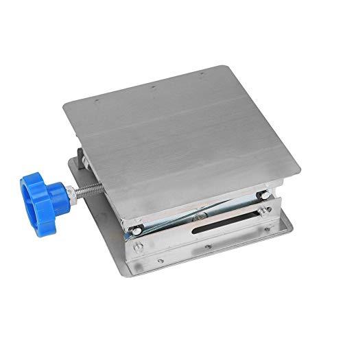 Labor Hebebühne Edelstahl Labor Hebebühne Ständer Schere Lab-Lift 100 * 100 * 160mm(Blauer Griff)