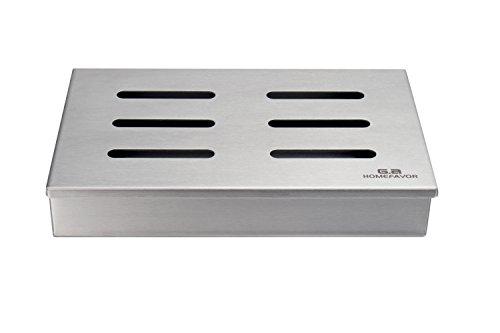 GA Homefavor Räucherbox Smoker für Gas- und Holzkohlegrills