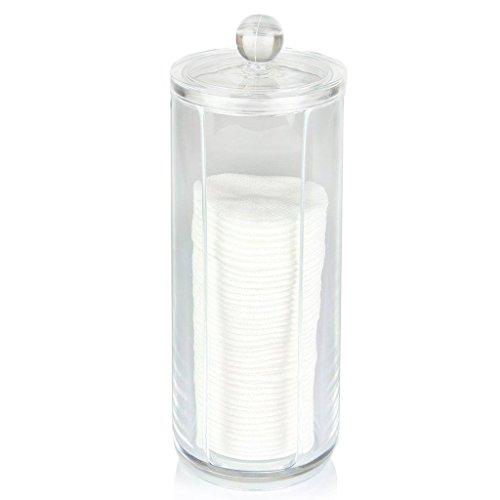 Oriskey Wattepadspender Wattepads Spender Kosmetik Make-up Pad Acryl Klar Behälter Halter Inhaber Box Aufbewahrung