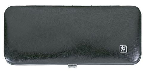 Zwilling 97283-004-0 Classic Etui aus hochwertigem Ziegenleder mit Rahmenverschluss, 5-teilig, schwarz