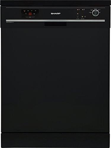 Sharp QW-GX13F472B-DE Geschirrspüler Freistehend / A++ / AquaStop / Start-Stop-Automatik / Halbe Beladung Funktion / Besteckkorb / Express 50 Funktion / Klappbare Ständer / 13 Maßgedecke / schwarz