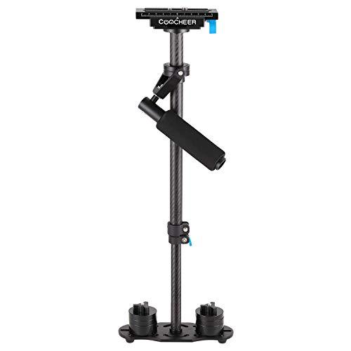Kamera Stabilisator 60cm Steadycam Handstabilisator mit Schnellwechselplatte 1/4 3/8 Zoll Schraube für Canon Nikon Sony und andere DSLR Kamera Video DV bis zu 3 kg